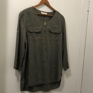 Jones New York Green Blouse